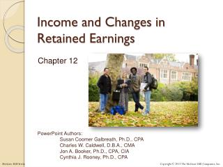 Income and Changes in Retained Earnings