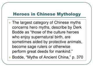 Heroes in Chinese Mythology