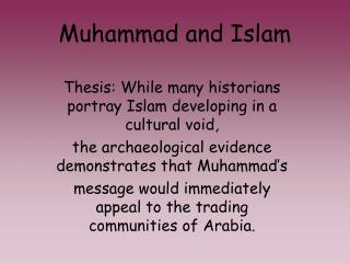 Muhammad and Islam