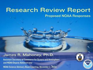 Research Review Report Proposed NOAA Responses
