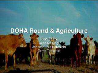 DOHA Round & Agriculture