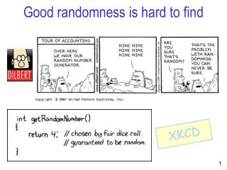 Good randomness is hard to find