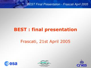 BEST : final presentation