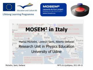 MOSEM 2  in Italy