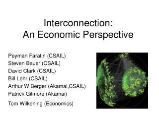 Interconnection:  An Economic Perspective
