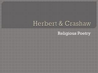 Herbert & Crashaw