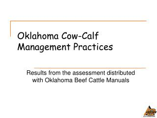 Oklahoma Cow-Calf Management Practices