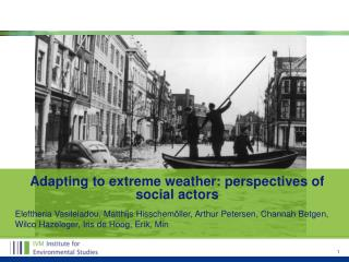 Adapting to extreme  weather:  perspectives of social actors
