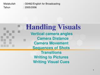Handling Visuals