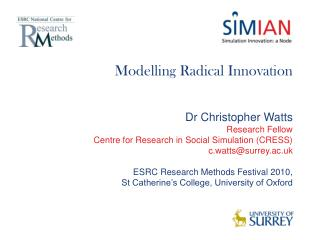 Modelling Radical Innovation