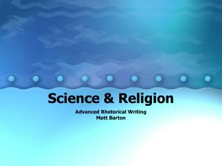 Science & Religion