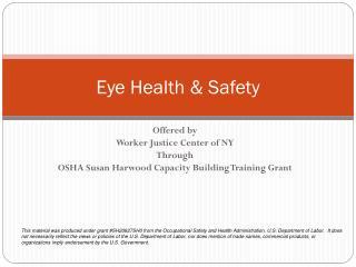 Eye Health & Safety