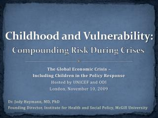 Childhood and Vulnerability: