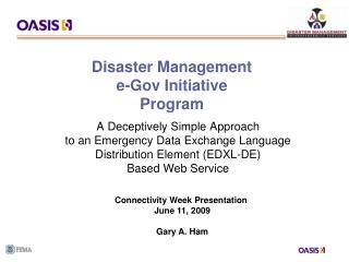 Disaster Management  e-Gov Initiative Program