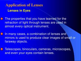 Lenses in Eyes
