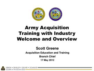 Army Acquisition Training with Industry Welcome and Overview