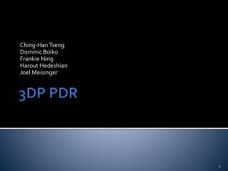 3DP PDR