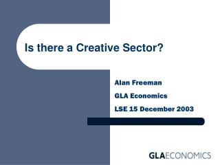 Is there a Creative Sector?