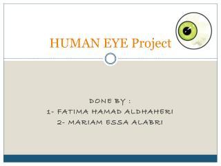 HUMAN  EYE  Project