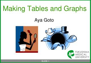 Making Tables and Graphs