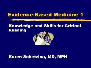 Evidence-Based Medicine 1
