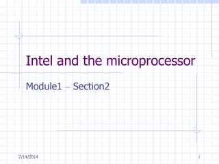 Intel and the microprocessor