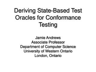 Deriving State-Based Test Oracles for Conformance Testing