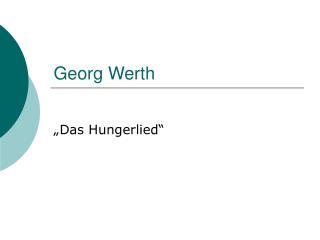 Georg Werth