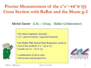 Precise Measurement of the e + e   +   () Cross Section  with BaBar and the Muon g-2