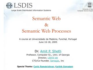 Semantic Web  &  Semantic Web Processes