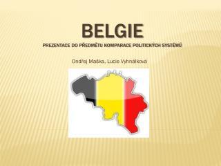 Belgie prezentace do předmětu komparace politických systémů