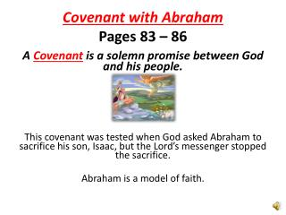 Covenant with  Abraham Pages 83 – 86