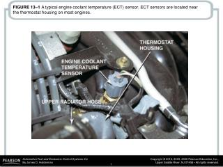 FIGURE 13–1  A typical engine coolant temperature (ECT) sensor. ECT sensors are located near the thermostat housing on