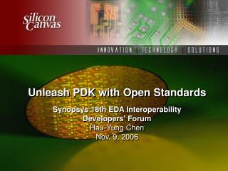 Unleash PDK with Open Standards