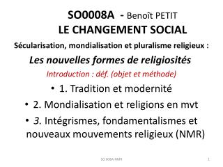 SO0008A -  Benoît PETIT Le changement social