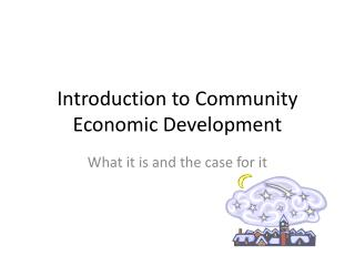 Introduction to Community Economic Development