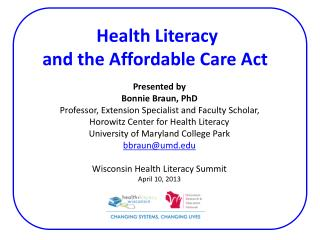 Health Literacy  and  the Affordable Care Act
