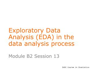 Exploratory Data Analysis (EDA) in the data analysis process