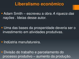 Liberalismo econ�mico