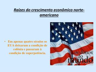 Raízes do crescimento econômico norte-americano