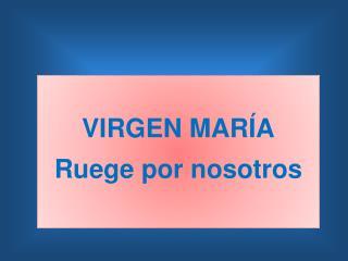 VIRGEN MARÍA Ruege por nosotros