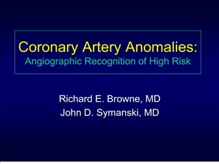 Coronary Artery Anomalies: Angiographic Recognition of High Risk