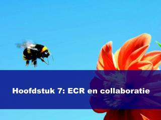Hoofdstuk 7: ECR en collaboratie