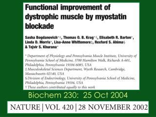 Biochem 230:  25 Oct 2004