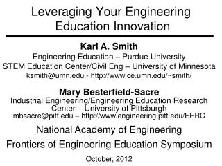 Leveraging Your Engineering  Education Innovation