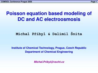 Poisson equation based modeling of DC and AC electroosmosis