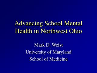 Advancing School Mental Health in Northwest Ohio