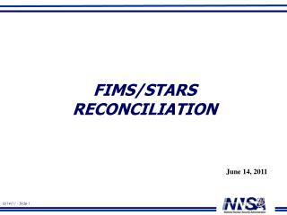 FIMS/STARS Reconciliation