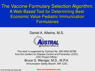 The Vaccine Formulary Selection Algorithm: A Web-Based Tool for Determining Best-Economic Value Pediatric Immunization