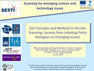 [ On Concepts and Methods in Horizon Scanning: Lessons from initiating Policy Dialogues on Emerging Issues ]